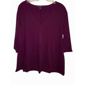 Victoria's Secret Top, Wine Color, 3/4 Sleeves